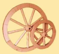 Kolo drewniane duze