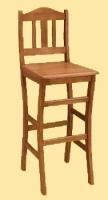 Krzeslo barowe P z oparciem nr 10