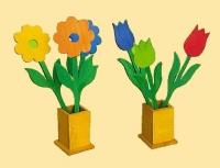 Kwiaty z drewna